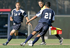 SRJC soccer players in the early 2000s